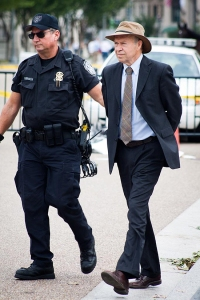Former NASA climate scientist James Hansen arrested in front of the White House in August 2011